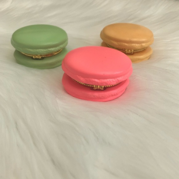 Francesca's Collections Other - Set of 3 French Macaron Cookie Trinket Boxes